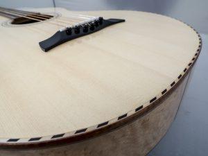 Weissenborn model III spruce / birds eye maple rope binding lower part soundboard